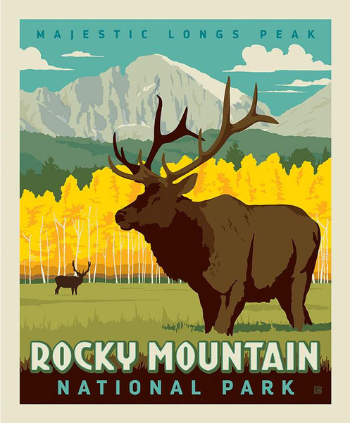 National Parks Poster Panel Rocky Mountain