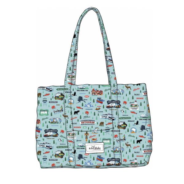 Alaska Quilted Bag Aqua