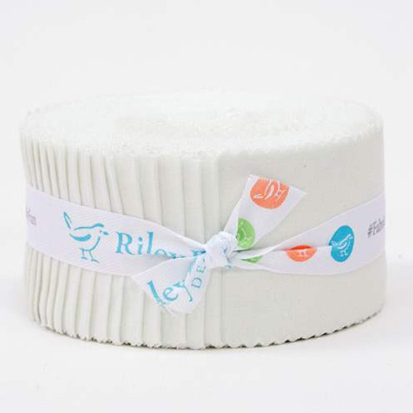 Confetti Cottons Off White 2 1/2 inch Rolie Polie