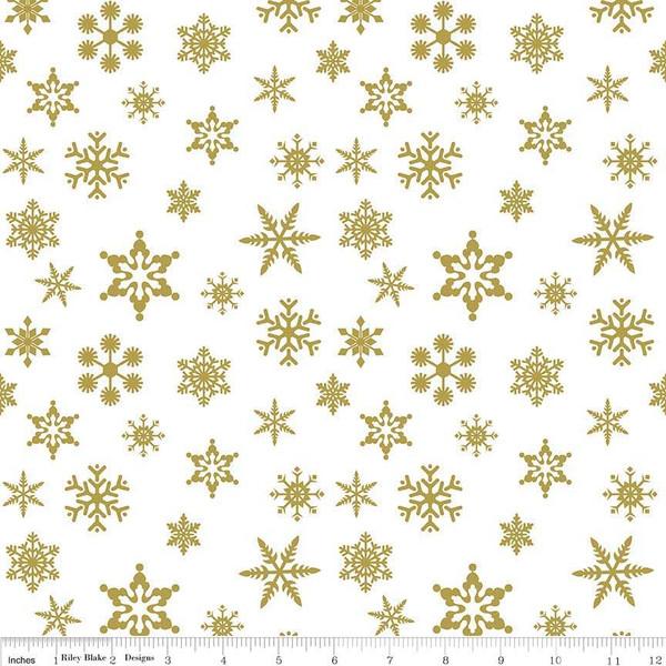 Snowflake Gold Sparkle