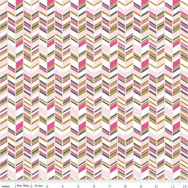 Chloe & Friends - Herringbone, Sparkle Pink - by Melissa Mortenson for Riley Blake