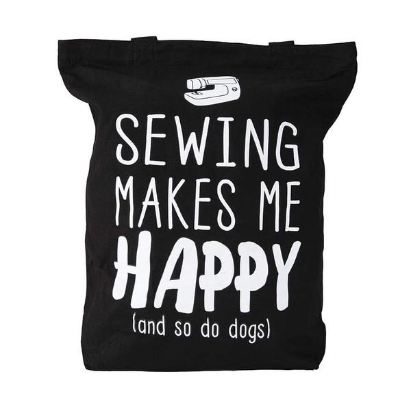 Tote Bag - Sewing Makes Me Happy
