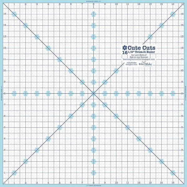Lori Holt Trim-it Ruler 16-1/2 inch Square
