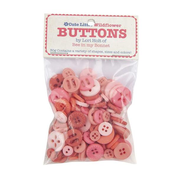 Lori Holt Cute Little Buttons Wildflower