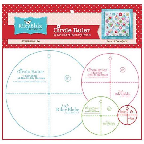 Lori Holt Circle Ruler Set - 2 inch, 4 inch, 6 inch, 9 inch