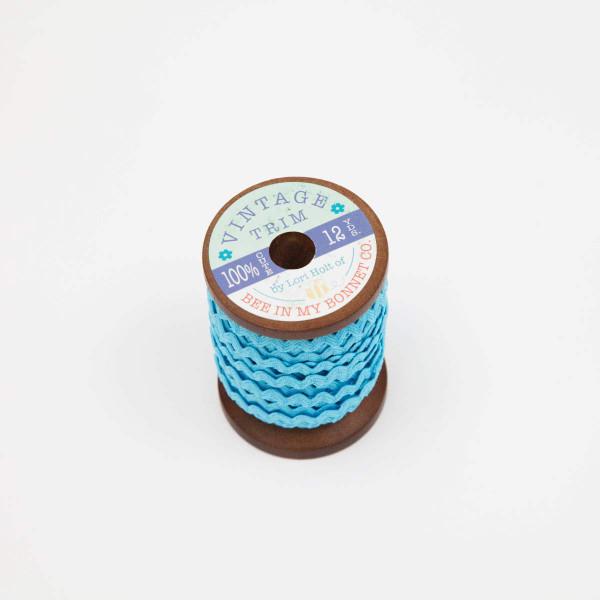 Lori Holt Vintage Trim Small Riley Aqua Wooden Spool