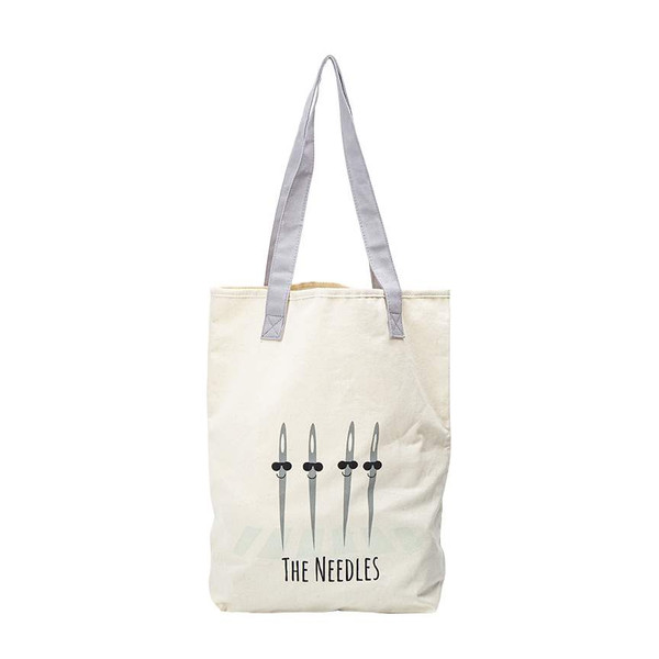 Kelli Fannin Sew Chatty Punny Canvas Tote Bag The Needles