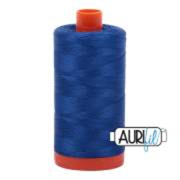 Aurifil Cotton Mako 50 Wt. large spool -  Medium Blue #2735