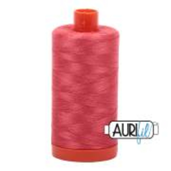 Aurifil Cotton Embroidery Thread Medium Red 1422 Yards5002