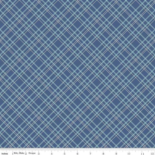 108 Plaid Quilt Back Blue