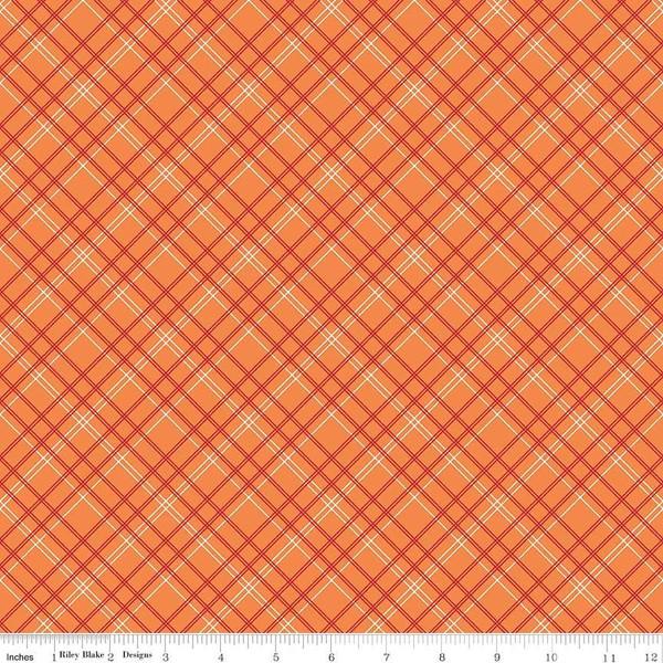 108 Bee Backings & Borders Plaid Orange