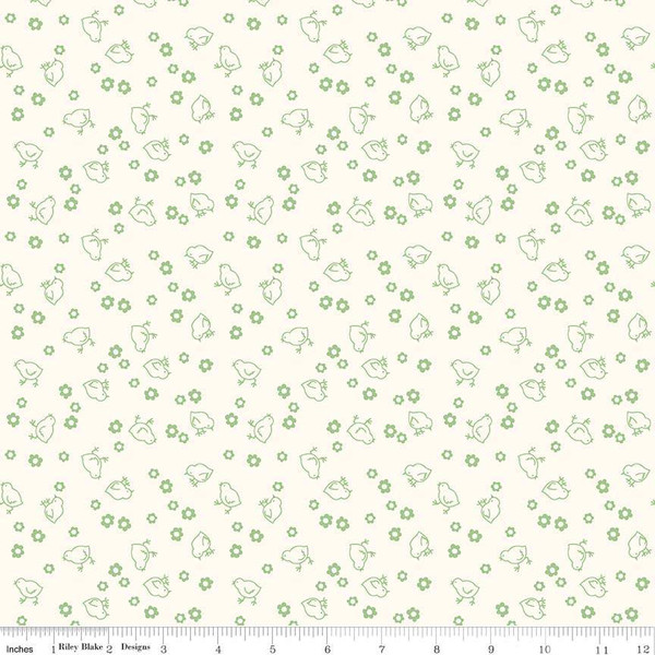 Wide Back Bee Backings & Borders Chick Green