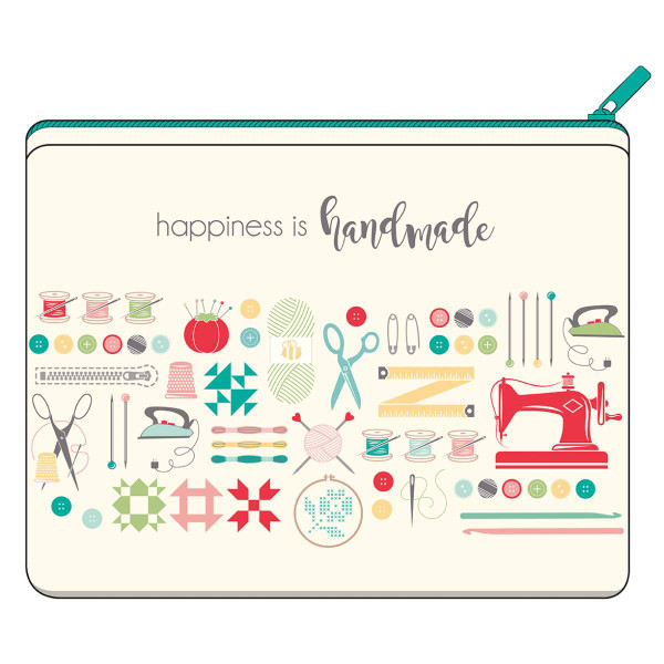 Lori Holt Large Canvas Bag Happiness is Handmade