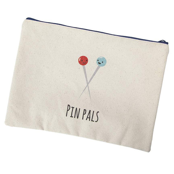 Kelli Fannin Sew Punny Small Canvas Bag Pin Pals