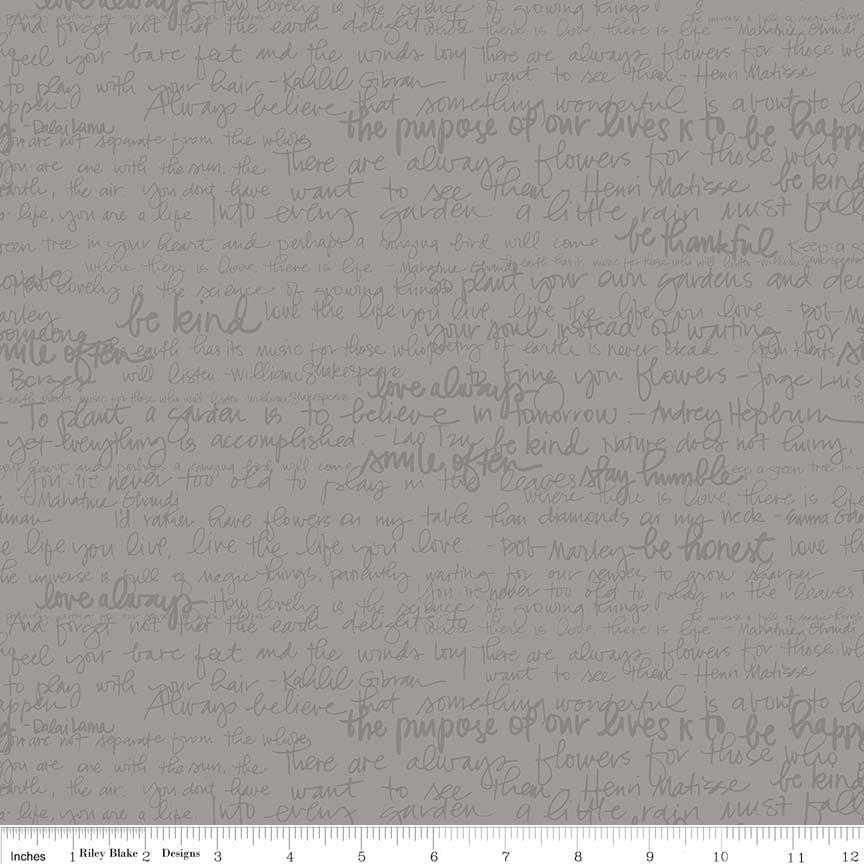 Tone-on-Tone Text Gray by Amanda Herring - c217 gray