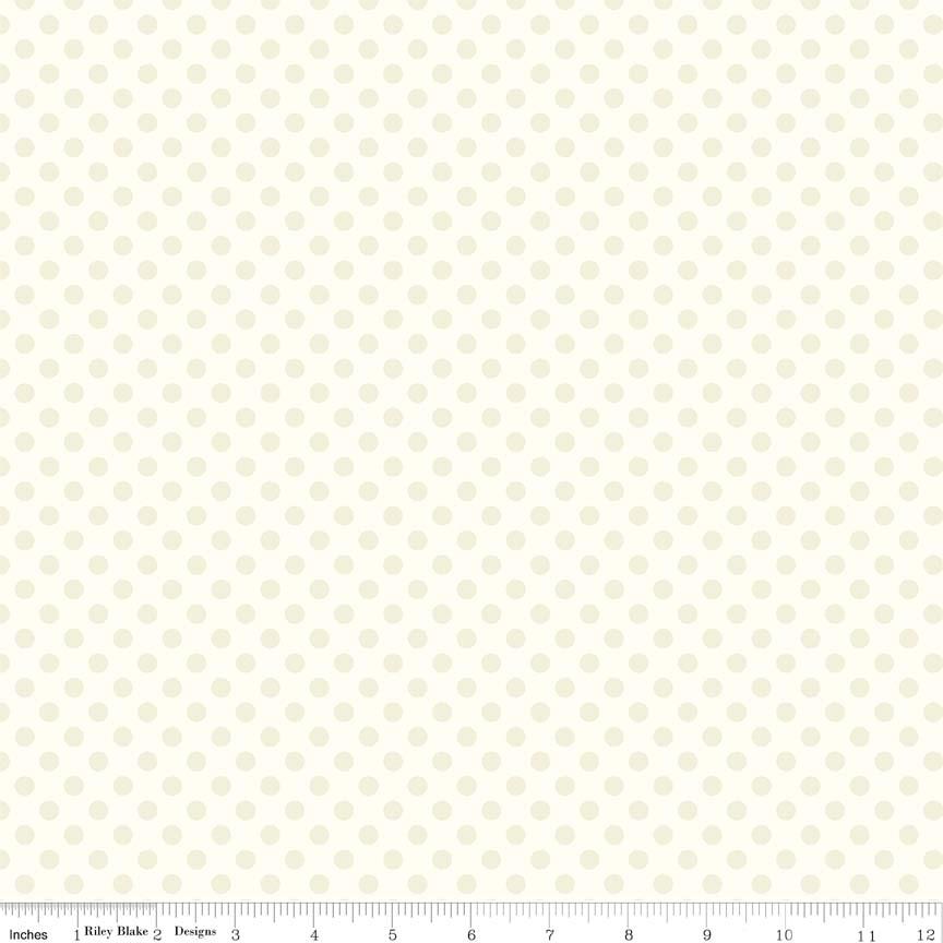 Small Dot Tone On Tone Cream by Riley Blake C420-01