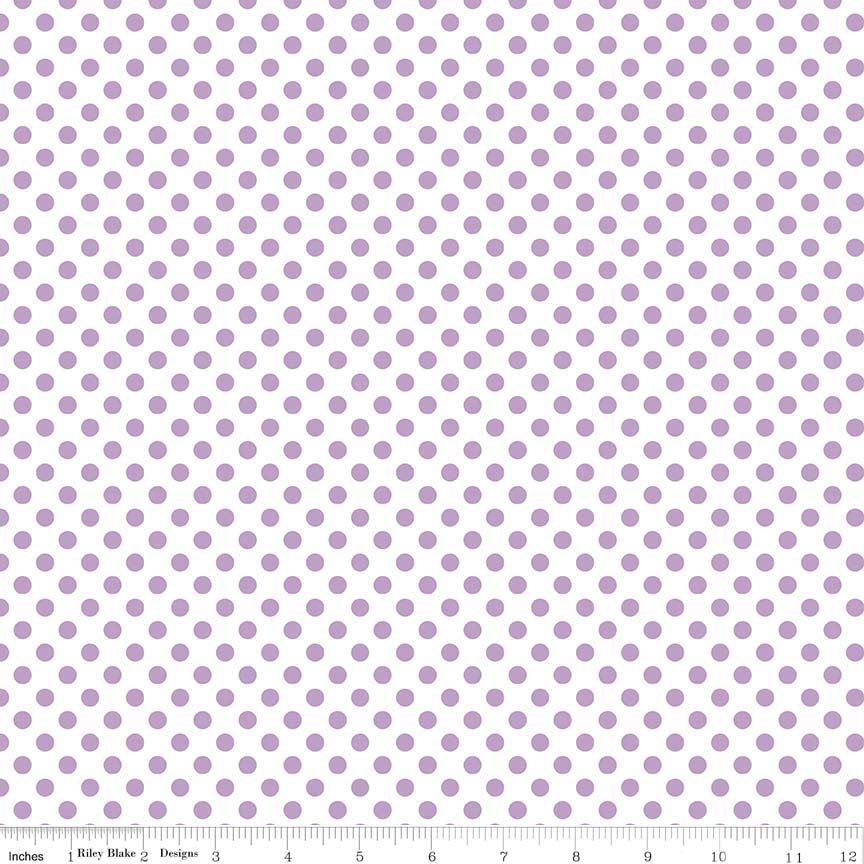 Small Lavendar Dots on White by RBD Designers for Riley Blake