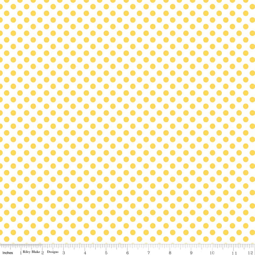 Riley Blake - Small Dots Yellow