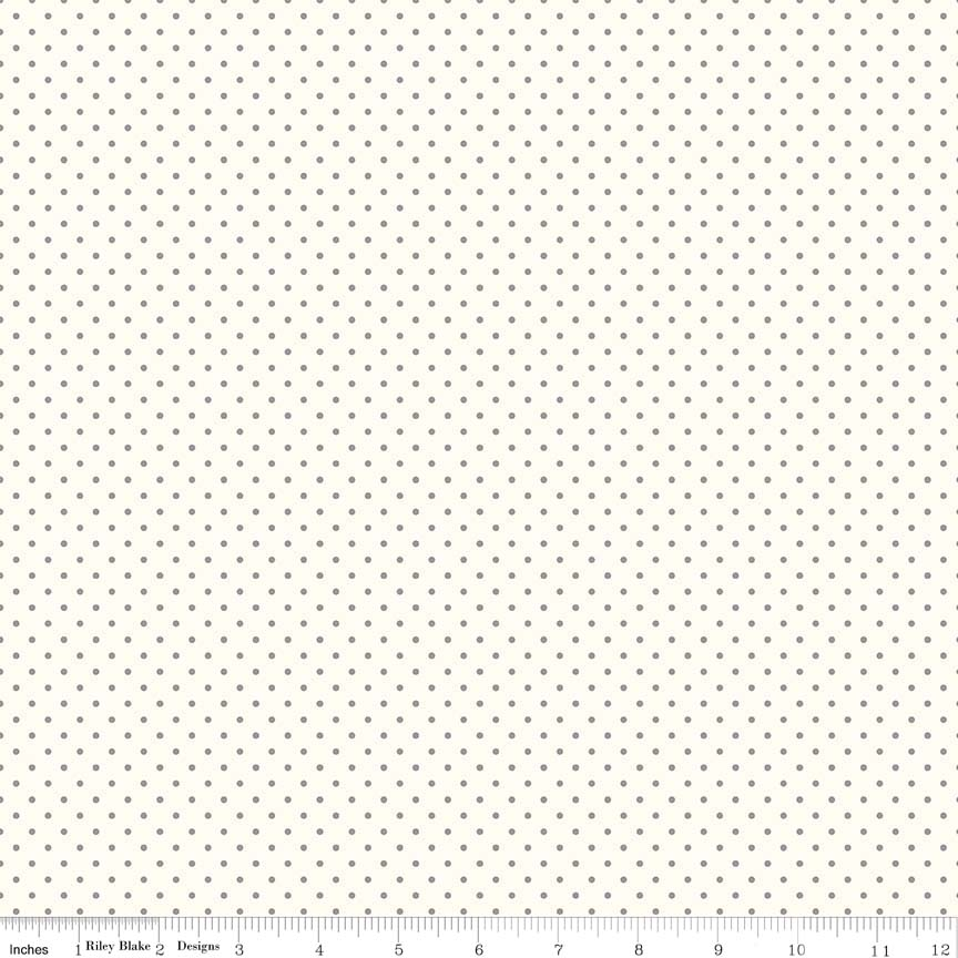 c600-40-Gray Le Creme Swiss Dot Rose Garden Gerri Robinson