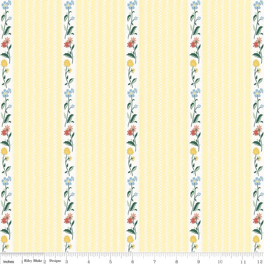 Bunnies Stripe Yellow