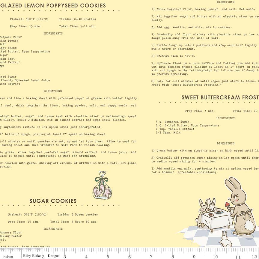Bunnies Recipes Yellow