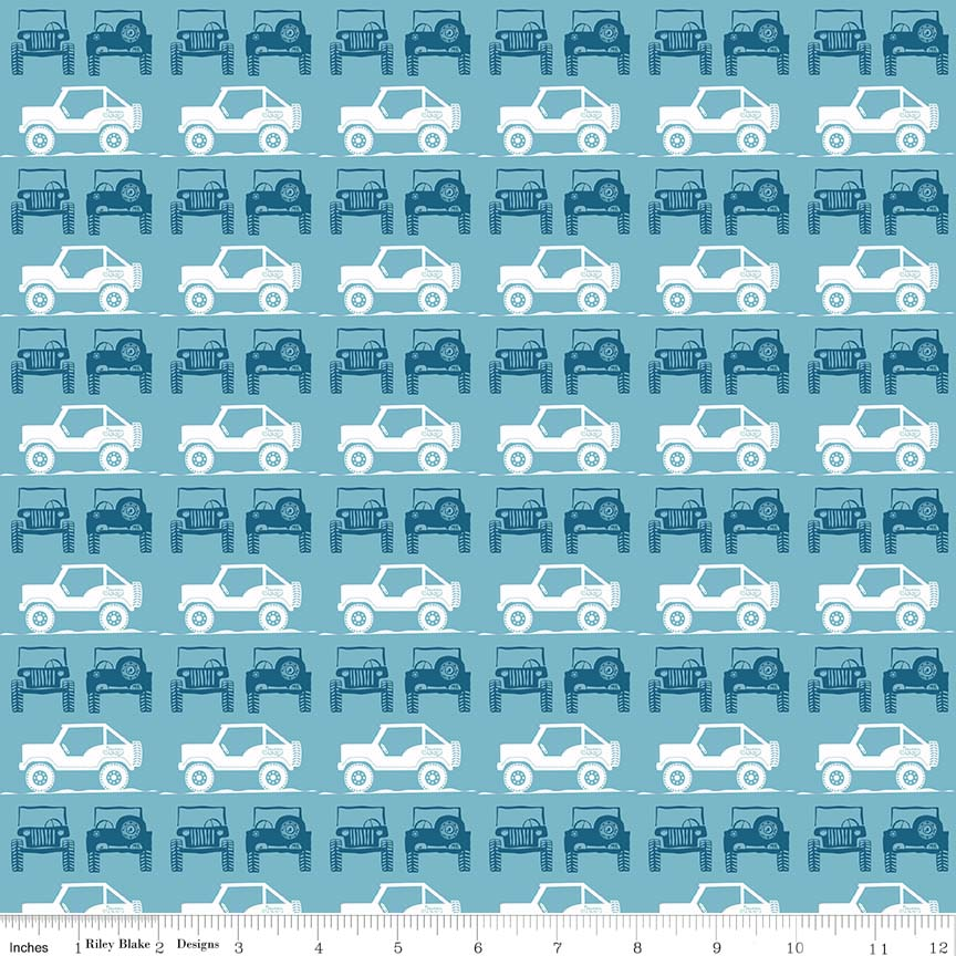 J IS FOR JEEP� BRAND JEEPS BLUE