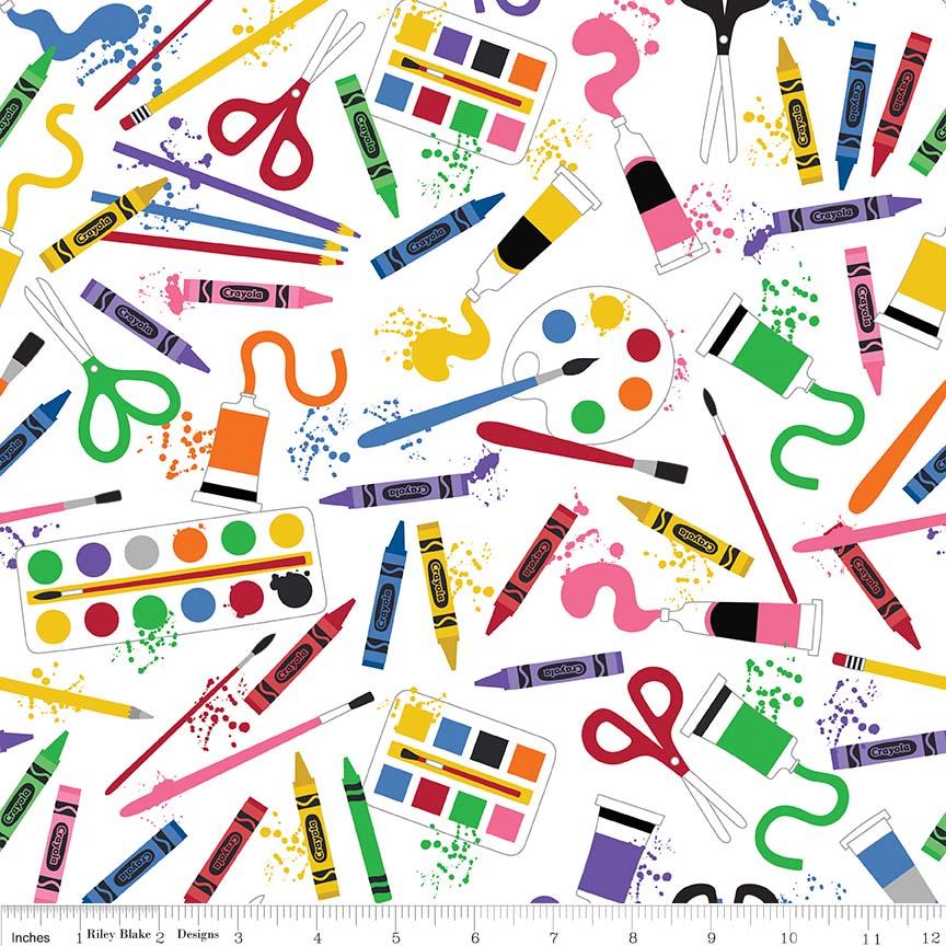 Crayola Art Box Main White