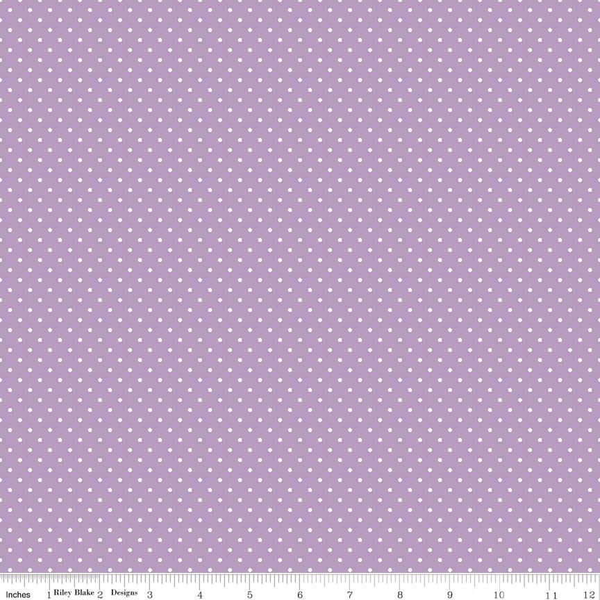 White Swiss Dot On Lavender