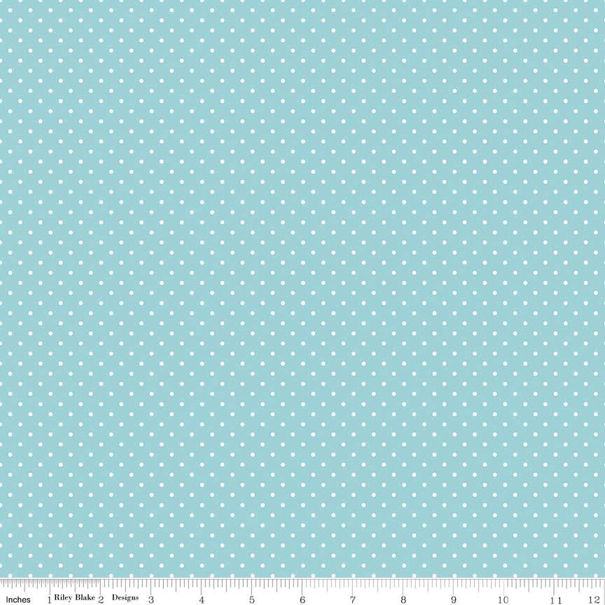 Swiss Dot Aqua