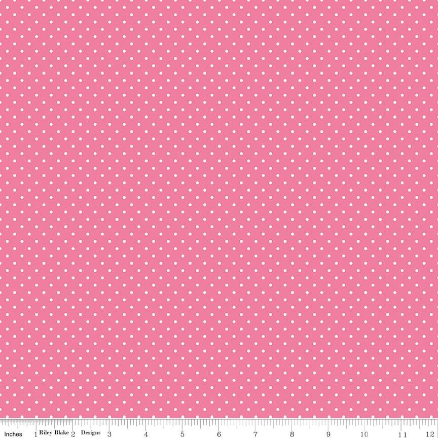 Swiss Dot Hot Pink