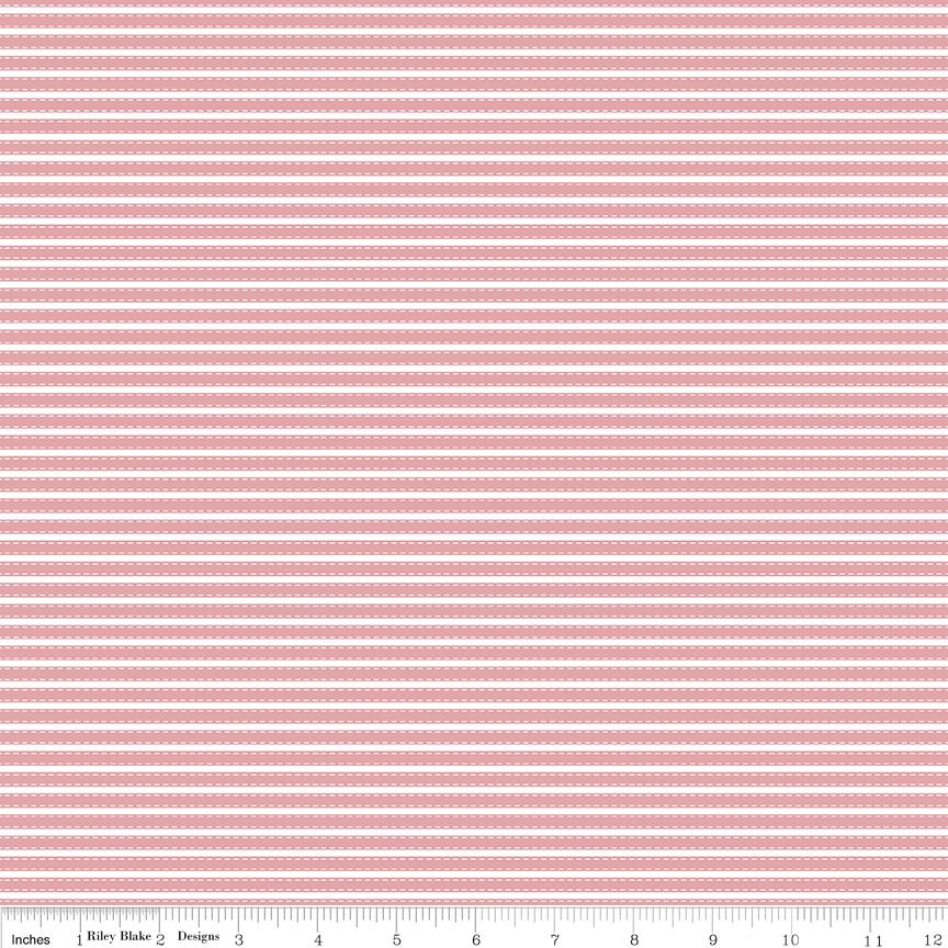 Vintage Adventure C7277-PINK - Stripe Pink