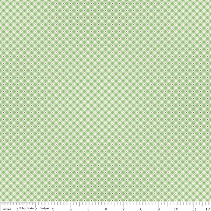 Mon Beau Jardin Check Green