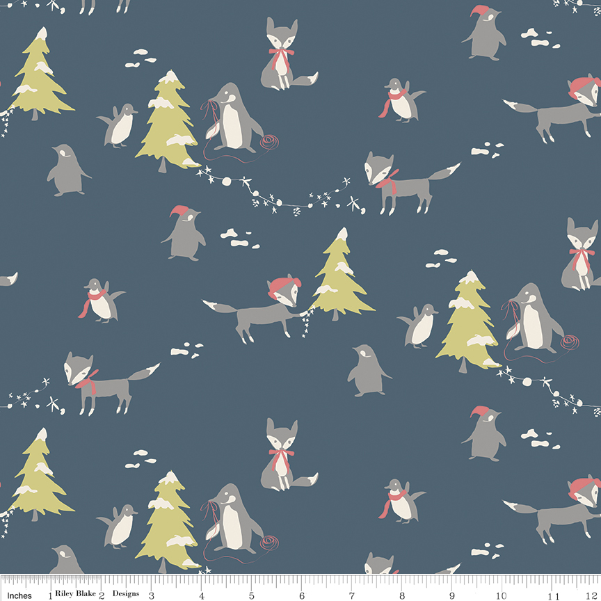 C7310  Blue  Winter Tales Collection by Minki Kim for Riley Blake Design