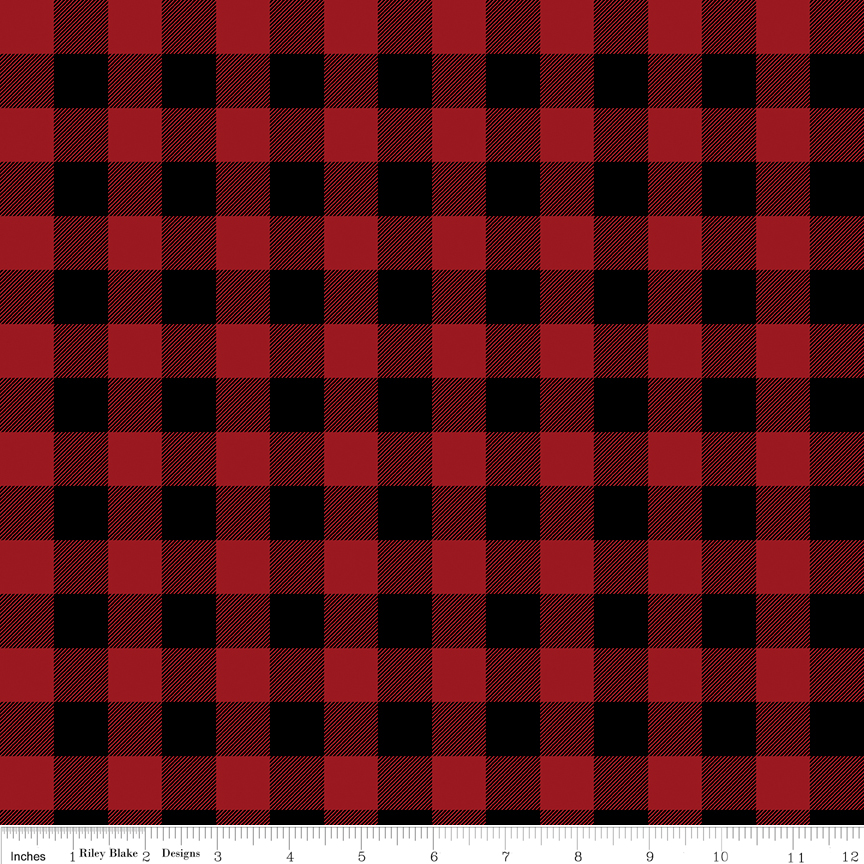 Christmas Delivery Plaid Red