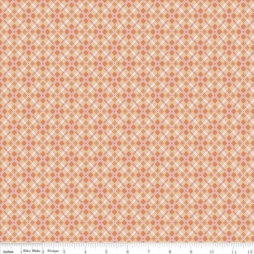 Autumn Love Plaid Orange C7364