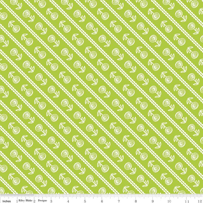 Happy Stripe - Lime