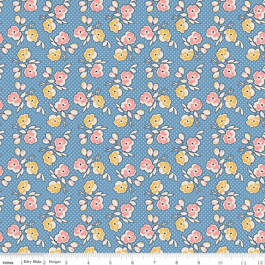 Lemonade Sundae Floral Blue
