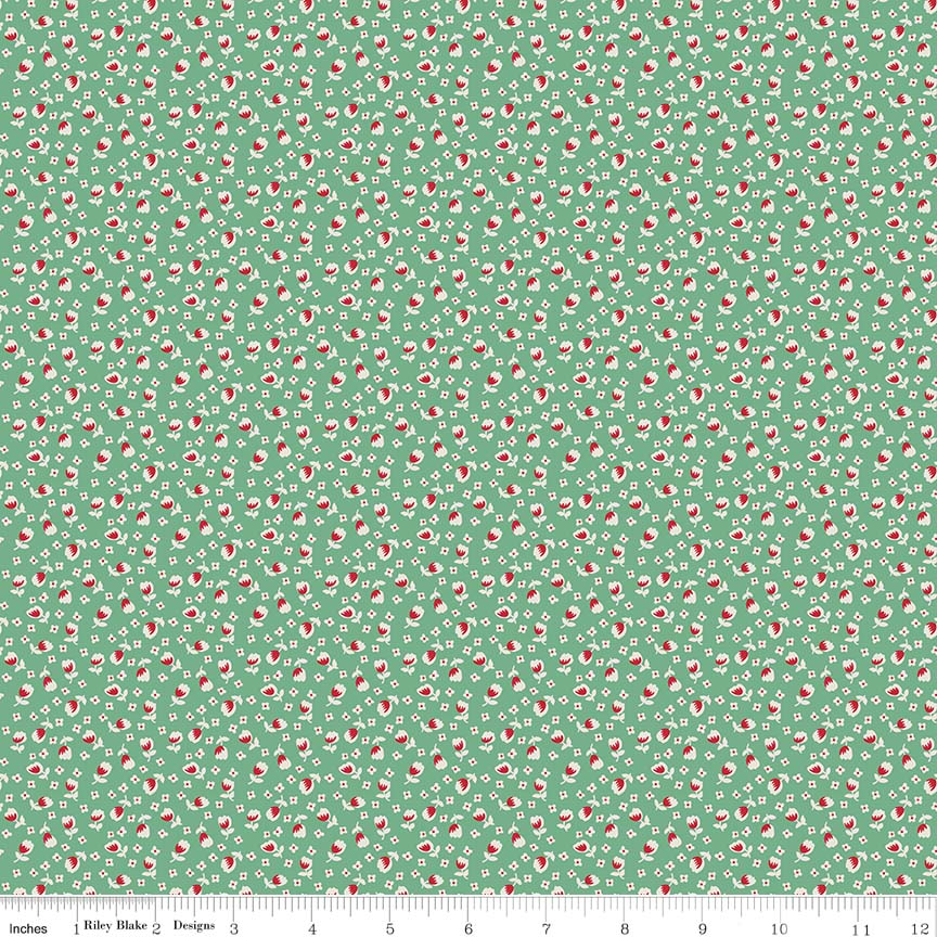 Lemonade Sundae Small Floral Green