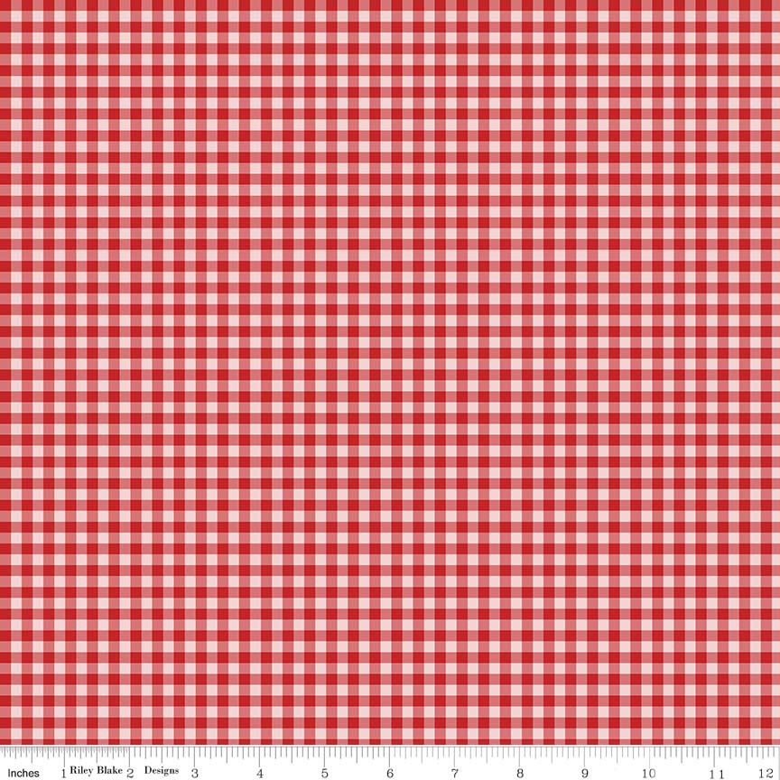 Afternoon Picnic Gingham Red