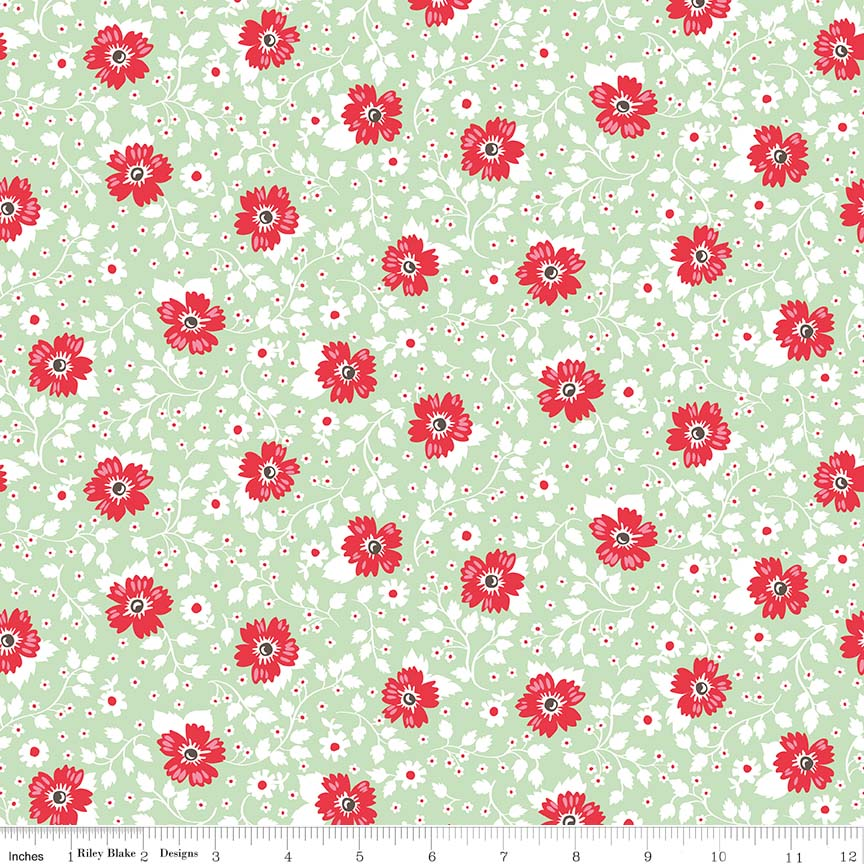 May Belle Floral Green