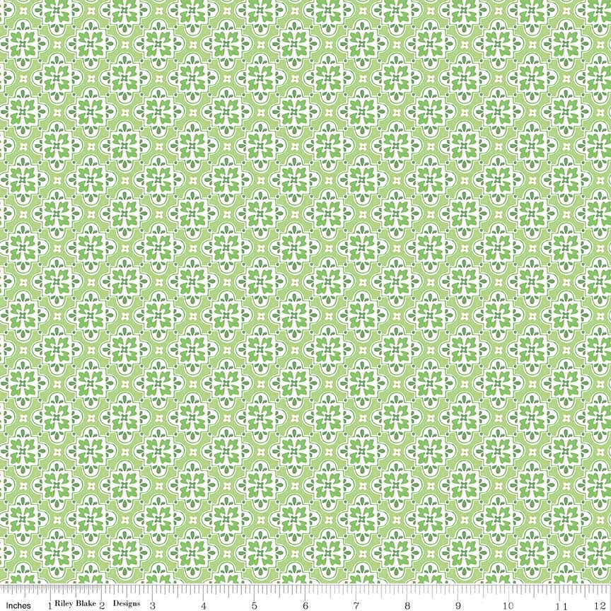 May Belle Wallpaper Green