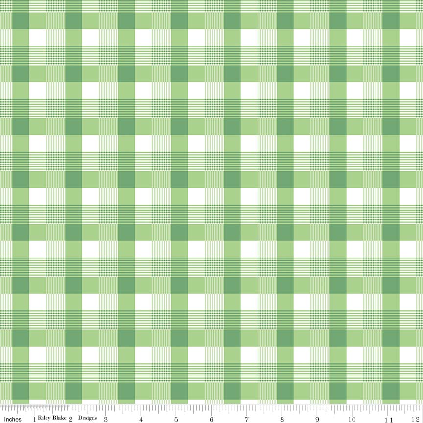 May Belle Plaid Green