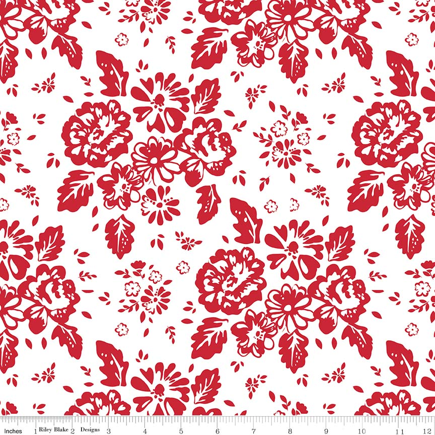 So Ruby - Floral White C7690-white