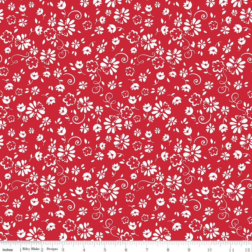 So Ruby Floral Red C7691-RED