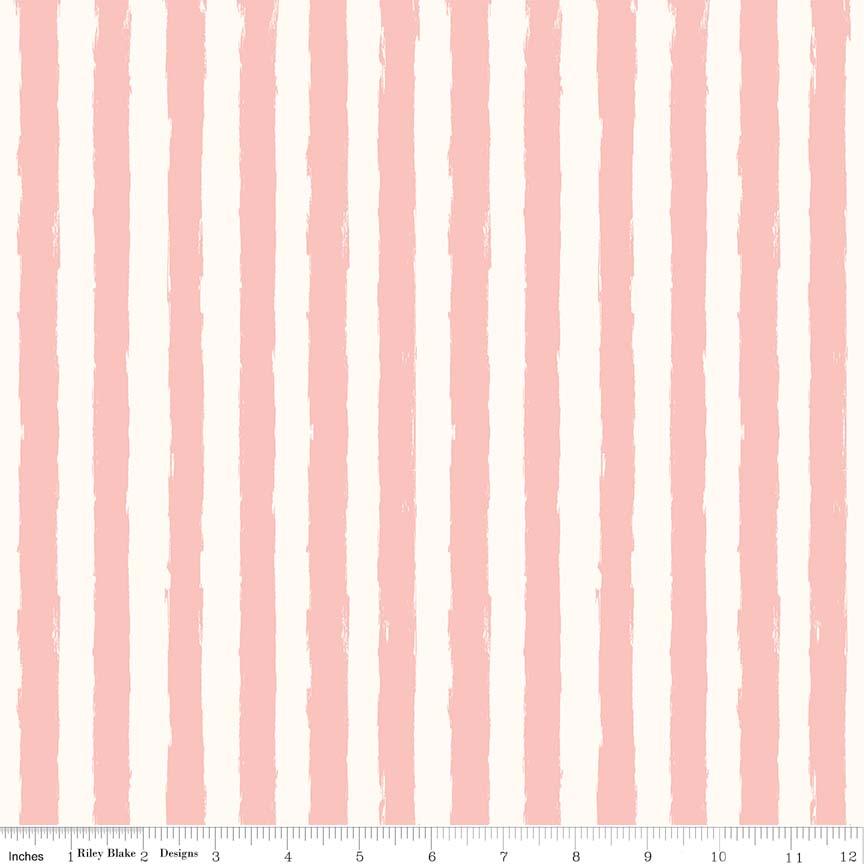 Blush Stripe Cream C8015-CREAM