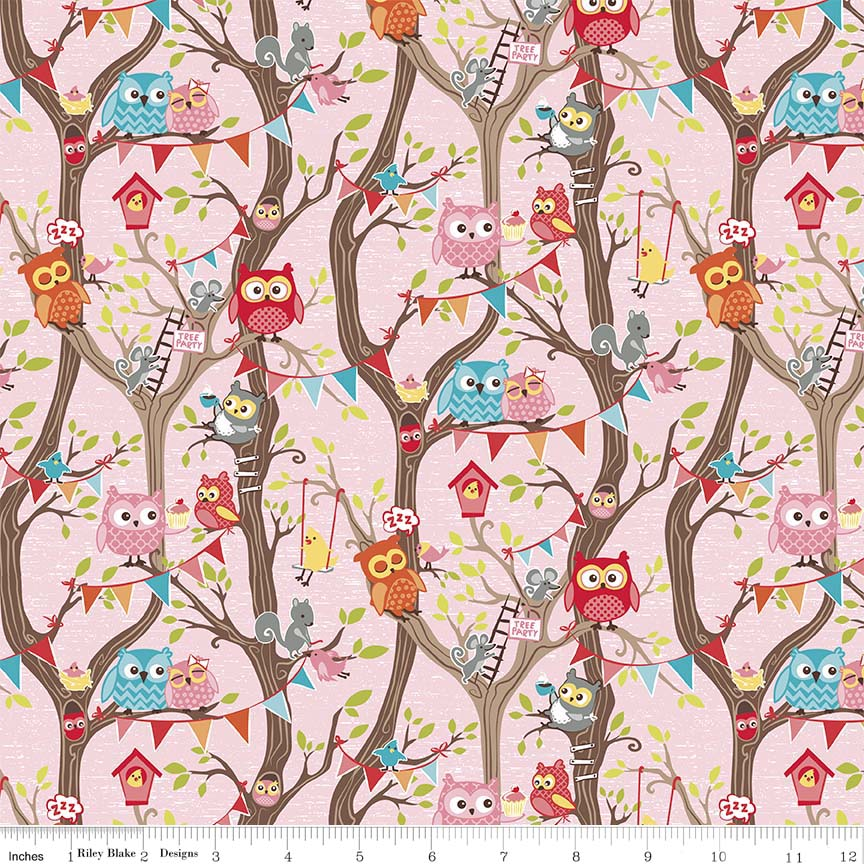 Tree Party Main Pink N Flannel