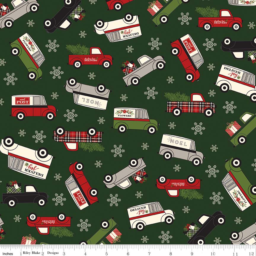 Christmas Delivery Flannel  F7773-GRN