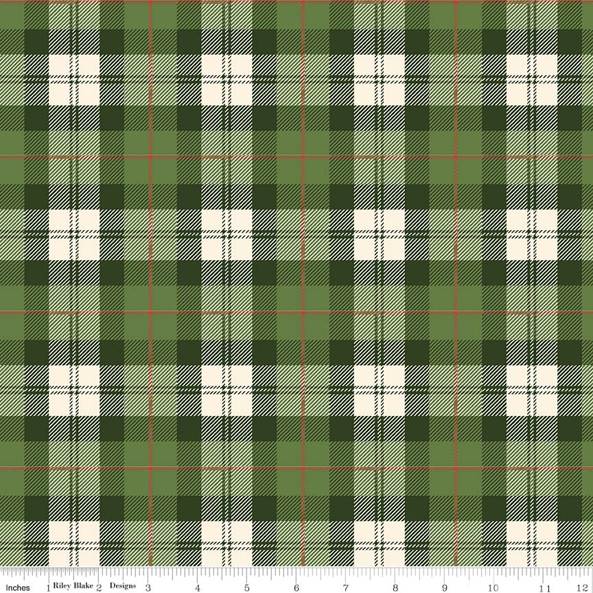 Christmas Delivery Flannel  F7775-GRN/CRM