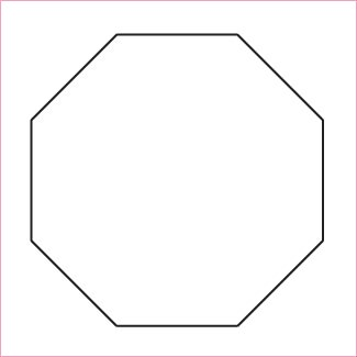 1 Octagon - English Paper Piecing - Papers & Template 50 pieces