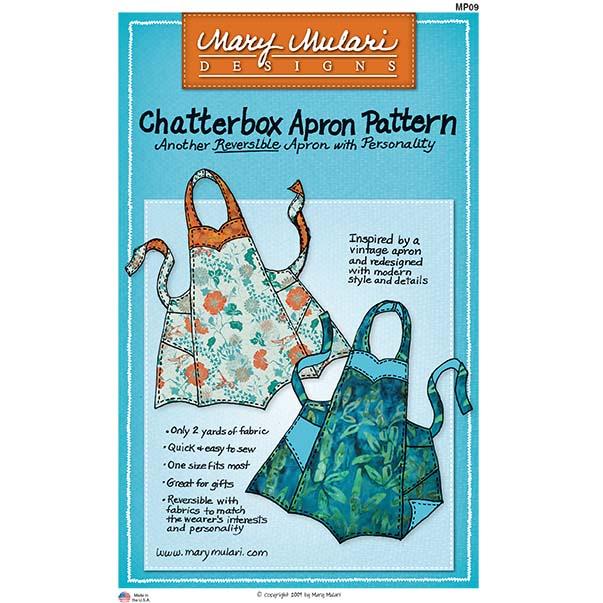 Chatterbox Apron Pattern By Mary Mulari Designs